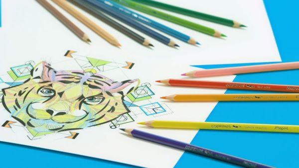 MAPED Color'Peps újrahasznosított és törésbiztos színes ceruzák.